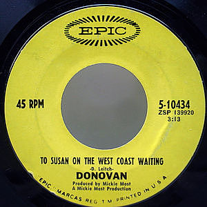 レコード画像:DONOVAN / To Susan On The West Coast Waiting / Atlantis