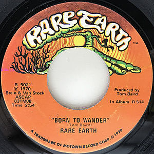 レコード画像:RARE EARTH / Born To Wander / Here Comes The Night