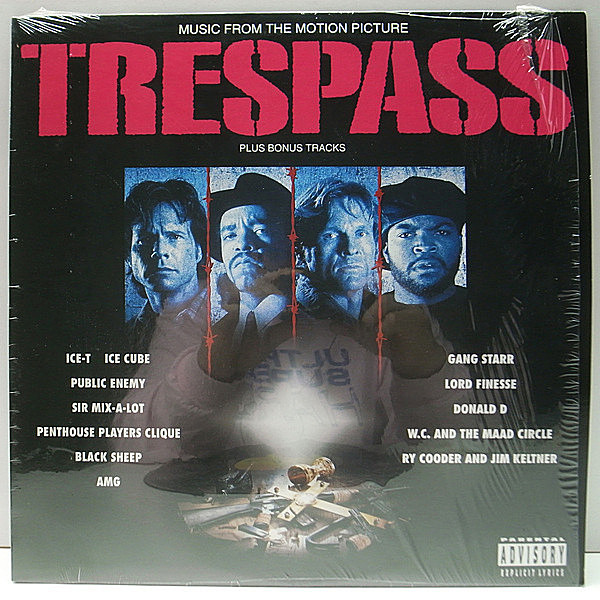 レコードメイン画像:シュリンク美品!! USオリジナル VARIOUS Trespass (Music From The Motion Picture) PUBLIC ENEMY, GANG STARR, RY COODER ほか O.S.T. LP