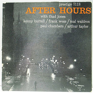 レコード画像:THAD JONES / FRANK WESS / KENNY BURRELL / MAL WALDRON / PAUL CHAMBERS / ARTHUR TAYLOR / After Hours