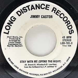 レコード画像:JIMMY CASTOR / Stay With Me (Spend The Night)