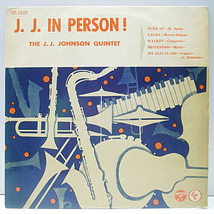 レコード画像:J.J. JOHNSON / In Person!