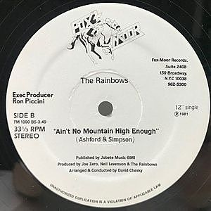 レコード画像:RAINBOWS / Ain't No Mountain High Enough / Fourever Seasons