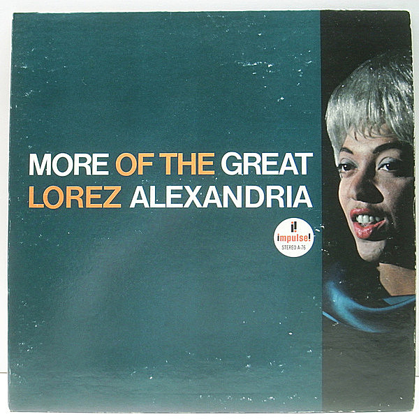 レコードメイン画像:【Wynton Kelly, Jimmy Cobb】良好品!! LOREZ ALEXANDRIA More Of The Great ~ (Impulse AS-76) 米 US 緑Lbl. 70'sプレス 見開きジャケ