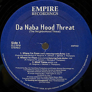 レコード画像:DA NABA HOOD THREAT / Where I'm From