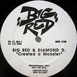 レコード画像:BIG RED / DIAMOND D / Created A Monster