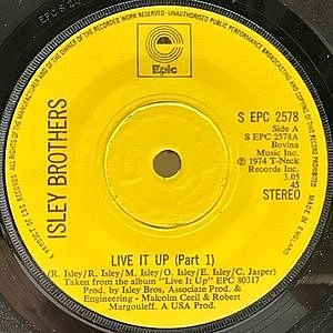 レコード画像:ISLEY BROTHERS / Live It Up