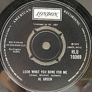 レコード画像:AL GREEN / Look What You Done For Me / I've Never Found A Girl