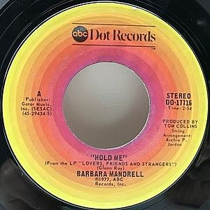 レコード画像:BARBARA MANDRELL / Hold Me / This Is Not Another Cheatin' Song