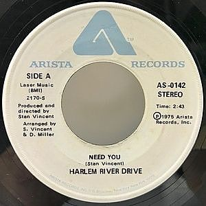 レコード画像:HARLEM RIVER DRIVE / Need You / Overtime