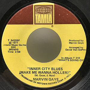 レコード画像:MARVIN GAYE / Inner City Blues (Make Me Wanna Holler) / Wholy Holy