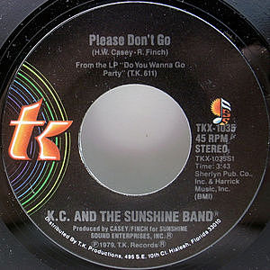 レコード画像:K.C. & THE SUNSHINE BAND / Please Don't Go / I Betcha Didn't Know That