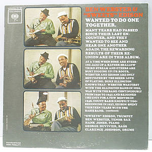 レコード画像:BEN WEBSTER / HARRY EDISON / Wanted To Do One Together