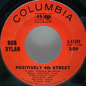レコード画像:BOB DYLAN / Positively 4th Street / From A Buick 6