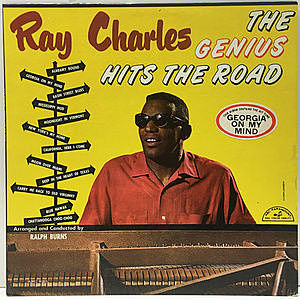 レコード画像:RAY CHARLES / The Genius Hits The Road