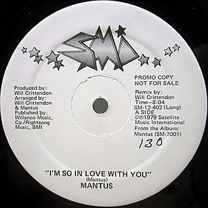 レコード画像:MANTUS / I'm So In Love With You