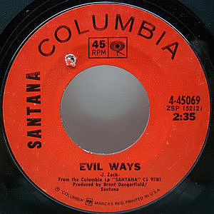 レコード画像:SANTANA / Evil Ways / Waiting