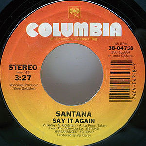 レコード画像:SANTANA / Say It Again / Touchdown Raiders (Instrumental)