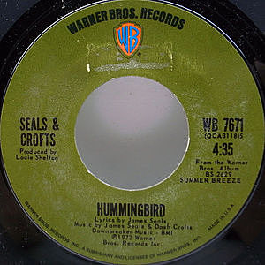 レコード画像:SEALS & CROFTS / Hummingbird / Say