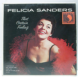 レコード画像:FELICIA SANDERS / That Certain Feeling