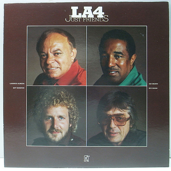 レコードメイン画像:Cut無し 美品 USオリジナル LA4 Just Friends ('78 Concord Jazz) Bud Shank, Laurindo Almeida, Ray Brown, Jeff Hamilton