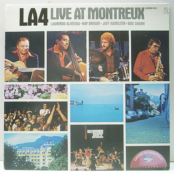 レコードメイン画像:Cut無し 美品 USオリジナル LA4 Live At Montreux ('79 Concord Jazz) Bud Shank, Laurindo Almeida, Ray Brown, Jeff Hamilton