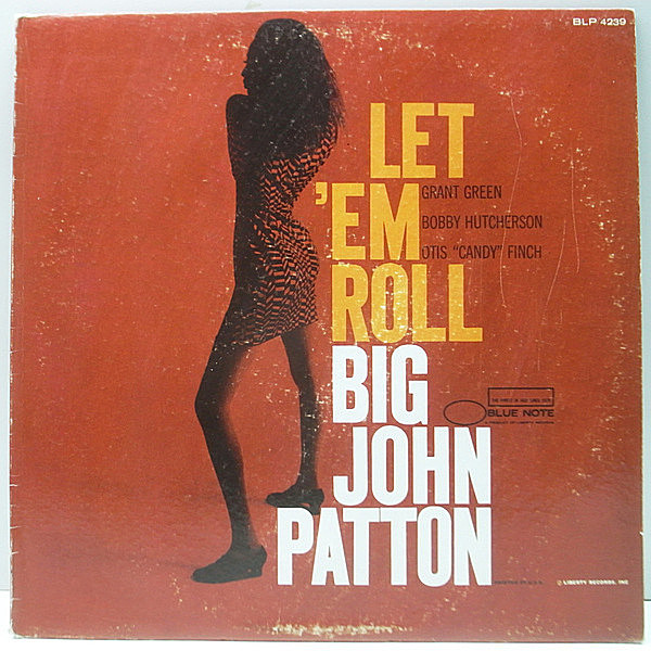 レコードメイン画像:美再生!! MONO VANGELDER刻 初版NEWYORK USオリジナル BIG JOHN PATTON Let 'Em Roll (Blue Note BLP 4239) Grant Green, Bobby Hutcherson