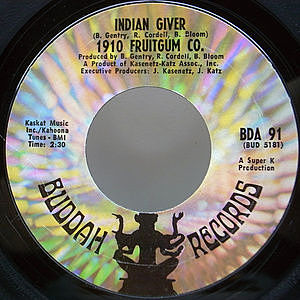レコード画像:1910 FRUITGUM CO. / Indian Giver