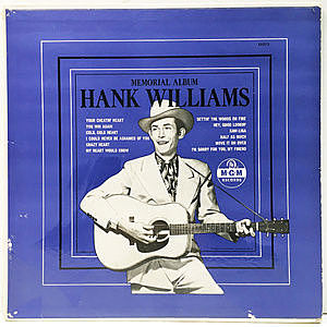 レコード画像:HANK WILLIAMS / Memorial Album