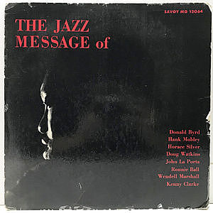 レコード画像:DONALD BYRD / HANK MOBLEY / The Jazz Message Of