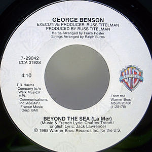 レコード画像:GEORGE BENSON / Beyond The Sea (La Mer) / I Just Wanna Hang Around You