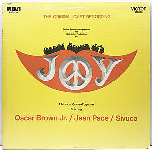 レコード画像:OSCAR BROWN JR. / JEAN PACE / SIVUCA / Joy