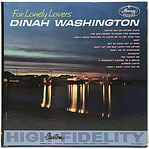 レコード画像:DINAH WASHINGTON / For Lonely Lovers