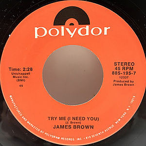 レコード画像:JAMES BROWN / Try Me (I Need You) / Think