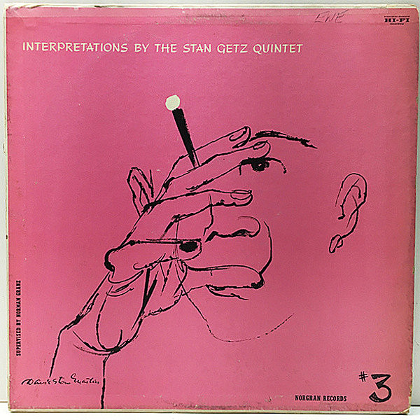 レコードメイン画像:USオリジナル 黄Norgran 1st DSMジャケ STAN GETZ QUINTET Interpretations By ~ #3 (MG N-1029) w./John Williams, Bob Brookmeyer