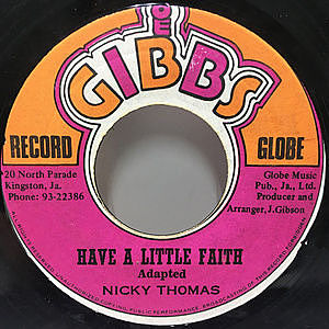 レコード画像:NICKY THOMAS / Have A Little Faith / If I Had A Hammer