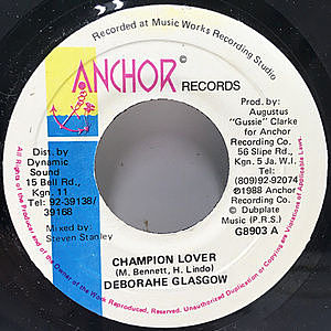 レコード画像:DEBORAHE GLASGOW / Champion Lover