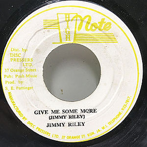 レコード画像:JIMMY RILEY / Give Me Some More