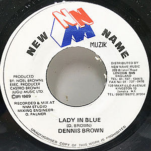 レコード画像:DENNIS BROWN / Lady In Blue