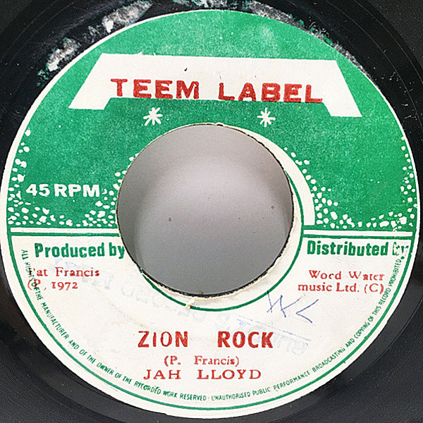 レコードメイン画像:【Ain't No Sunshine/Deejay Cut & Horn Cut】JAMAICA オリジナル JAH LLOYD Zion Rock / DON D JUNIOR Rebel Rock ('72 Teem) Lee Perry