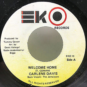 レコード画像:CARLENE DAVIS / Welcome Home