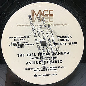 レコード画像:ASTRUD GILBERTO / The Girl From Ipanema