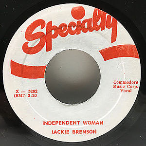 レコード画像:JACKIE BRENSON / PAUL BASCOMBE / Independent Woman / Mumbles Blues