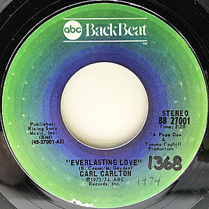 レコード画像:CARL CARLTON / Everlasting Love