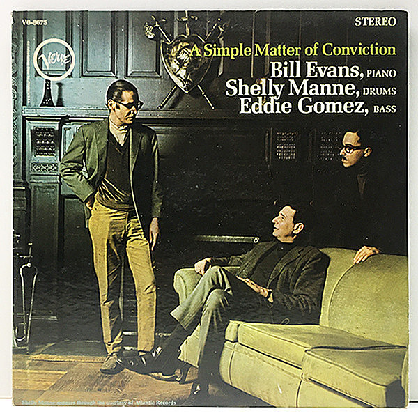 レコードメイン画像:【VANGELDER刻印】USオリジナル BILL EVANS A Simple Matter Of Conviction ('66 Verve) w./SHELLY MANNE, EDDIE GOMEZ ピアノトリオ作品