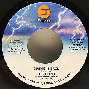 レコード画像:PHIL HURTT / Giving It Back / Where The Love Is
