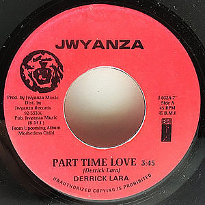 レコード画像:DERRICK LARA / Part Time Love
