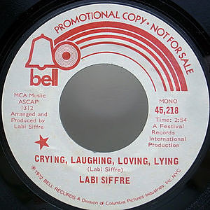 レコード画像:LABI SIFFRE / Crying, Laughing, Loving, Lying (MONO w./ STEREO)