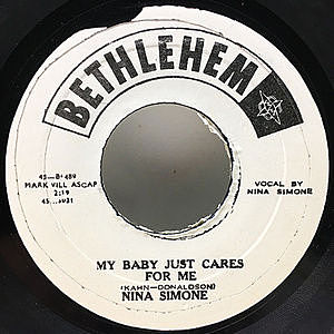 レコード画像:NINA SIMONE / My Baby Just Cares For Me / He Needs Me