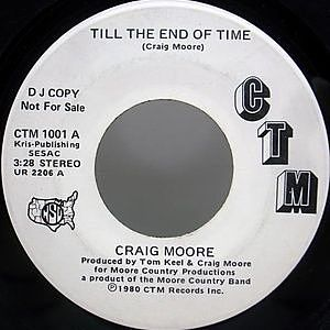 レコード画像:CRAIG MOORE / Till The End Of Time